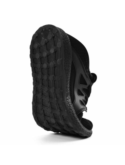 QANSI Boys Tennis Shoes Slip On Lightweight Running Athletic Sports Shoes Mesh Fashion Gym Walking Sneakers Blue Size