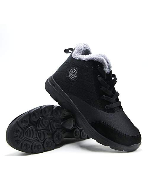 BomKinta Women's Snow Boots Keep Warm Anti-Slip Soft Sole Warm Fur Lined Winter Ankle Booties