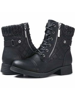 Women's Combat Boots Lace Up Ankle Booties