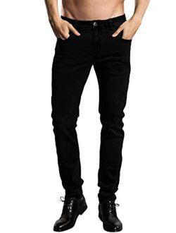 ZLZ Slim Fit Jeans, Men's Younger-Looking Fashionable Colorful Super Comfy Stretch Skinny Fit Denim Jeans...