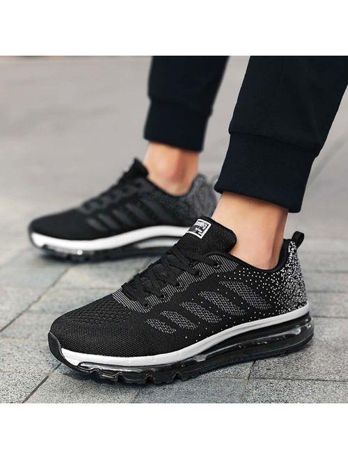 Ezkrwxn Women mesh Breathable Sport Running Tennis Athletic Walking Shoes