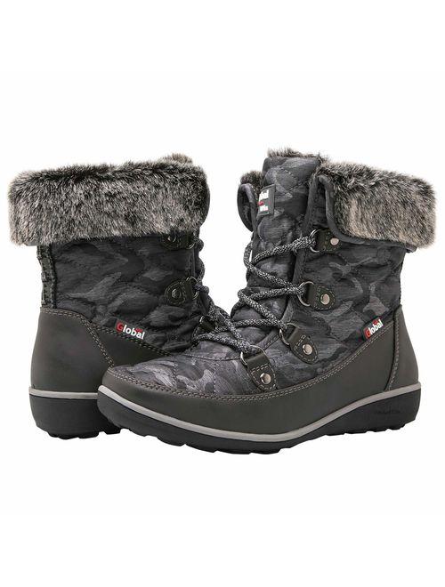 GLOBALWIN Women's 1839 Winter Snow Boots