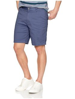 Men's Classic Fit Flat Front Stretch Solid Chino Deck Short
