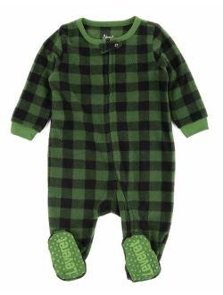 Fleece Baby Boys Girls Footed Pajamas Sleeper Kids & Toddler Christmas Pajamas (3 Months-5 Toddler)