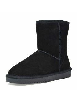 Women's Suede Leather Sheepskin Insole Winter Boots
