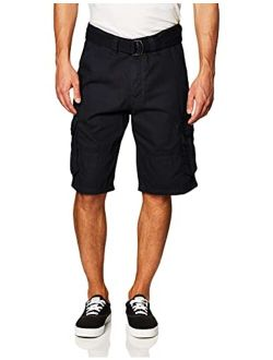 Men's All-season Belted Ripstop Basic Cargo Short-reg And Big And Tall Sizes