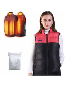 Heated Vest for Man/Woman, Electric Heating Coat Dual Independent Temperature ControlExtra Collar Heated Hiking, Ice skating for Heated Jacket/Sweater/Thermal Underwear B