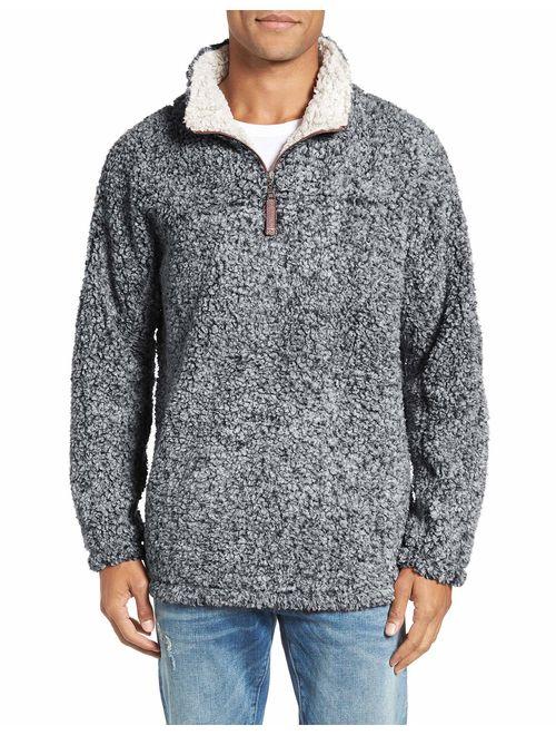 Men 1//4 Zip Sherpa Pullover Sweater Shirt Fleece Jacket Man Cardigan Jacket Coat