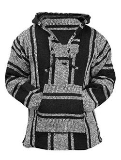 Del Mex Mexican Baja Hoodie Hippie Surf Pullover Jerga Sweater Sweatshirt