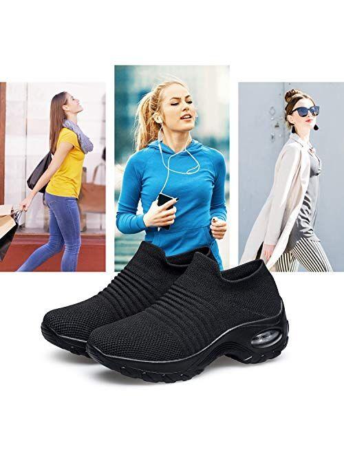 Belilent Womens Walking Shoes Slip on Sneaker