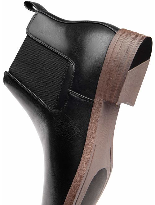 JOUSEN Men's Chelsea Boots Casual Elastic Ankle Boots Classic Dress Boots for Men