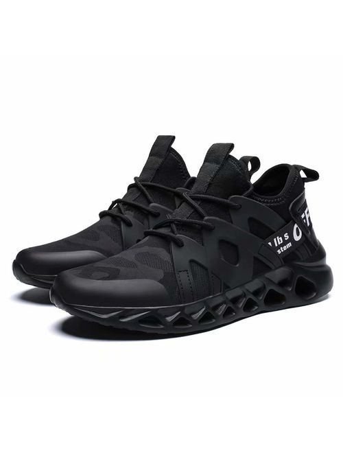 Wrezatro Mens Breathable Athletic Running Sneakers Mesh Light Walking Gym Shoes Fashion Personality Volleyball Footwear Outdoor