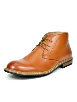 Bruno Marc Men's Leather Lined Oxfords Dress Ankle Boots