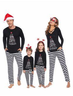 Matching Family Christmas Pajamas Set Holiday Pajamas Sleepwear Dad Mom Pjs