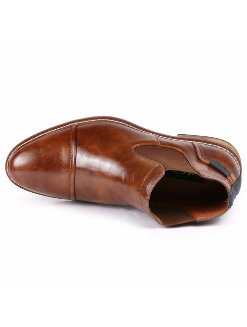 Metrocharm MC148 Men's Cap Toe Formal Dress Casual Ankle Chelsea Boot
