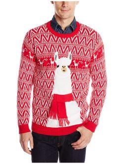 Men's Ugly Christmas Sweater Llama