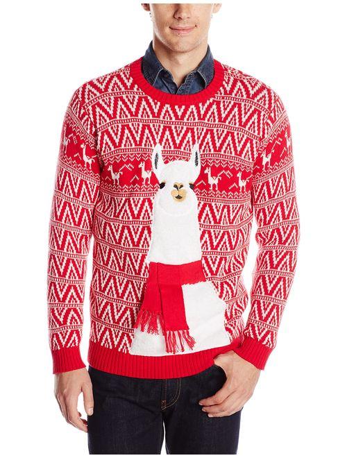 Blizzard Bay Men's Ugly Christmas Sweater Llama