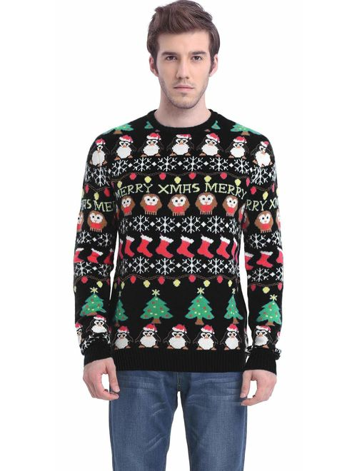 *daisysboutique** Daisyboutique Men's Christmas Decorations Stripes Sweater Cute Ugly Pullover