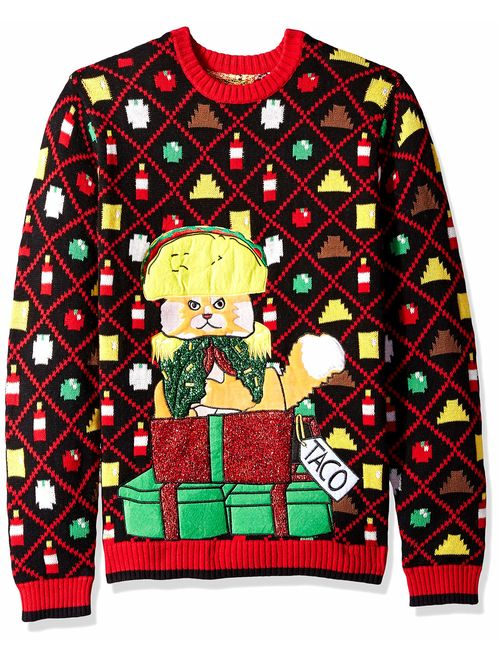 Blizzard Bay Men's Ugly Christmas Cat Sweater