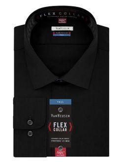 Men's Tall Fit Dress Shirts Flex Collar Solid (big And Tall)