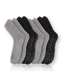 Pembrook Non Skid/Slip Socks - Hospital Socks - Fuzzy Slipper Gripper Socks