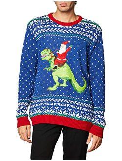 Men's Ugly Christmas Dinosaur Sweater