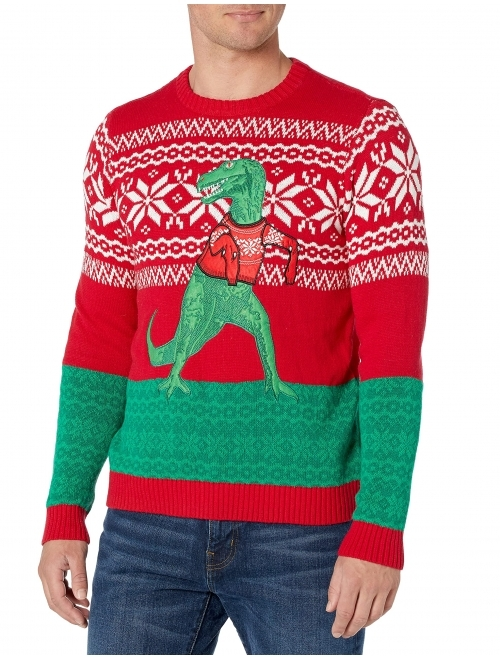 Blizzard Bay Men's Ugly Christmas Dinosaur Sweater