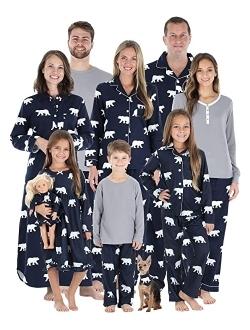 SleepytimePJs Matching Family Christmas Pajama Sets, Red Flannel