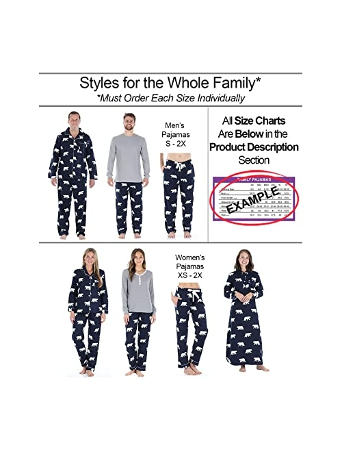 SleepytimePJs Matching Family Christmas Pajama Sets, Red Flannel