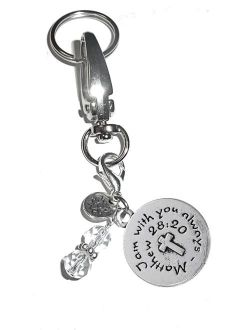 Message Charm Key Chain Ring, Women's Purse, Bag or Necklace & Clip on Charm, Comes in a Gift Box!