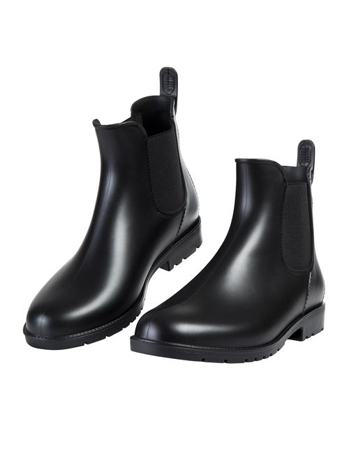 Asgard Women's Ankle Rain Boots Waterproof Chelsea Boots