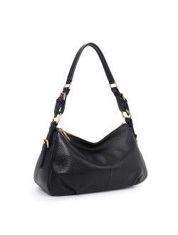 Kattee Soft Leather Hobo Purse for Women, Genuine Vintage Shoulder Bag