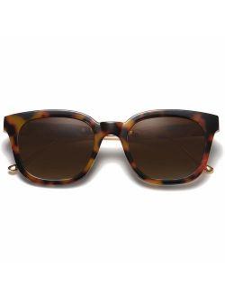 Classic Square Polarized Sunglasses Unisex Uv400 Mirrored Glasses Sj2050