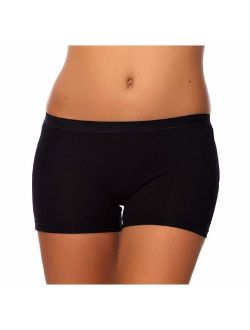 SEVIM Women's 3 Pack Comfortable Cotton Bike Yoga Boxer Brief Boyshort