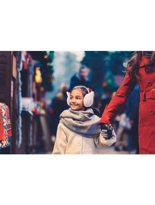Simplicity Kid's Soft Plush Foldable Ear Warmers Winter Ear Muffs