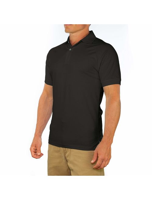 Buy CC Perfect Slim Fit Polo Shirts for Men Stretch | Breathable ...