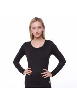 Women Thermal Underwear Top by Outland; Base Layer; Soft Lightweight Warm Fleece