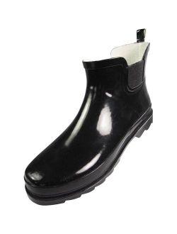 NORTY - Womens Ankle Rain Boots - Ladies Waterproof Garden Boot