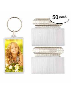 AnnyFa Custom Keychain Personalised Photo Acrylic Blank Keyring Keychain Wholesale(Size:2.51