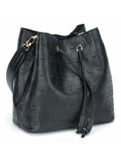 Womens Hobo Tote Bag Leather Shoulder Bag for Women Bucket Bag Hobo Handbag Fit for Dating, Working, Shopping