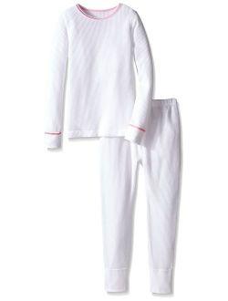 Girls' Waffle Thermal Underwear Set