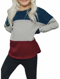GOSOPIN Big Girls Crewneck Pullover Sweatshirt