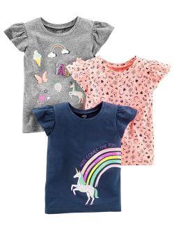 Toddler Girls Short-sleeve Graphic Tees