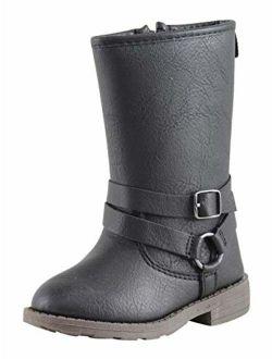 Carter's Kids Girl's Cicily Black Riding Boot Fashion