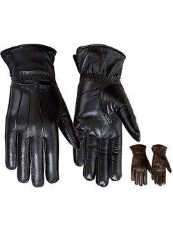 Ladies Warm Winter Gloves Dress Gloves Thermal Lining Geniune Leather Black