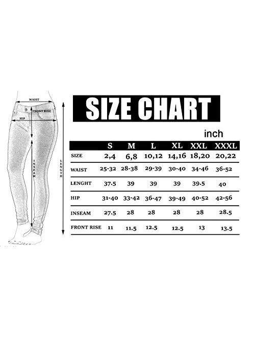 Prolific Health Women's Jean Look Jeggings Tights Slimming Many Colors Spandex Leggings Pants Capri S-XXXL
