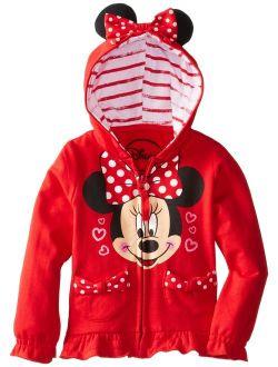 Girls' Minnie Polka-dot Bow Hoodie