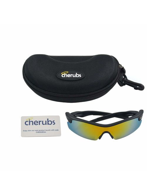 CHERUBS Kids Style and Sport Sunglasses - Boys or Girls - Flexible, Comfortable - UV400 Optometrist Approved