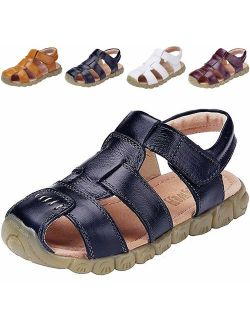 Boy's Girl's Leather Closed Toe Outdoor Sport Sandals (toddler/little Kid/big Kid)