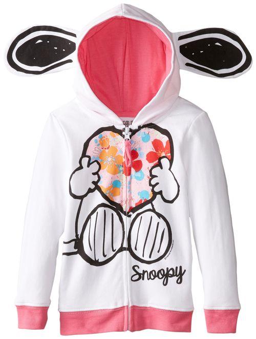 Peanuts Girls' Snoopy Fleece Hoodie with Ears